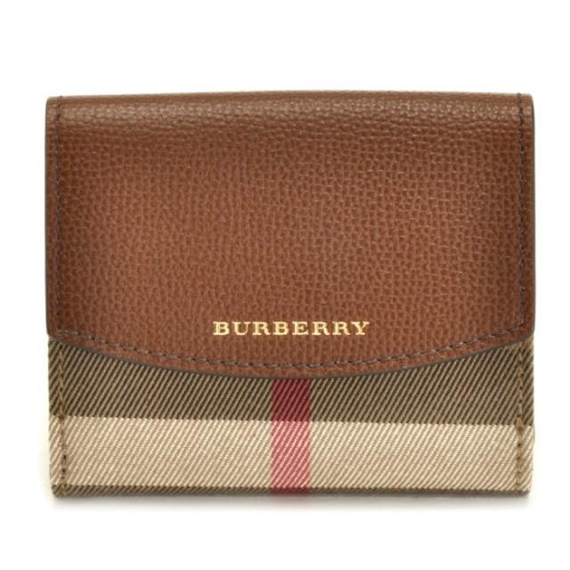 バーバリー BURBERRY 2018年春夏新作 ハウスチェック&レザー ミニ財布 二つ折り財布 4048265