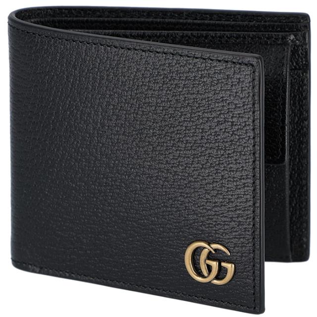 グッチ GUCCI 財布 マーモント Men'S Gg Marmont メンズ 二つ折り財布 ブラック 428725 DJ20T 1000
