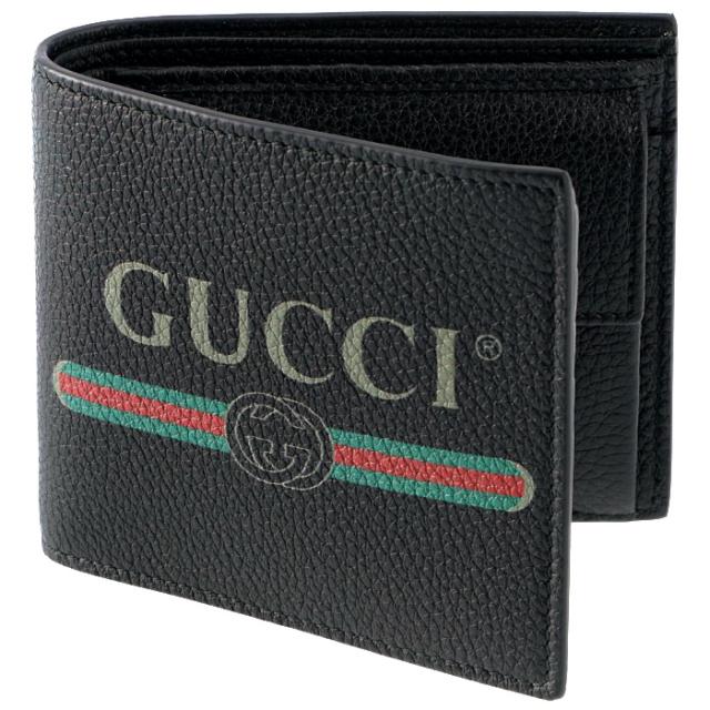 グッチ GUCCI 2019年春夏新作 財布 ヴィンテージロゴプリント メンズ 二つ折り財布 496316 0GCAT 8163