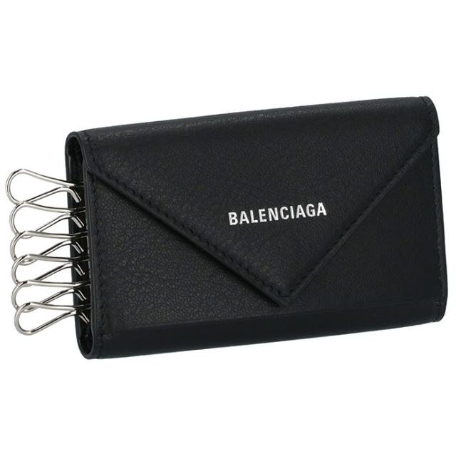 バレンシアガ BALENCIAGA 2018年春夏新作 ペーパー PAPIER KEY CASE ユニセックス 6連キーケース 499204 DLQ0N 1000