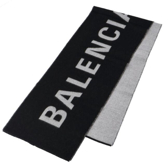 バレンシアガ BALENCIAGA 2020年秋冬新作 ロゴ ジャガード ウール マフラー マフラー 512732 420B0 1077