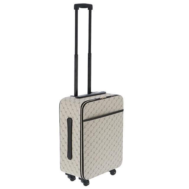 ステラマッカートニー  2019年秋冬新作 ロゴプリント キャリーケース 旅行 トラベルバッグ 機内持ち込み スーツケース 581299 W8437 9740