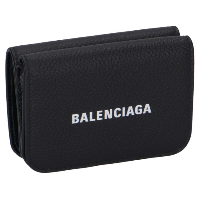 バレンシアガ BALENCIAGA 2020年春夏新作 財布 三つ折り ミニ財布 ロゴ ミニウォレット 三つ折り財布 593813 1IZ4M 1090