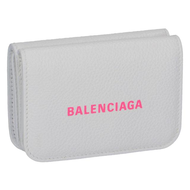 バレンシアガ BALENCIAGA 2020年春夏新作 財布 三つ折り ミニ財布 ロゴ ミニウォレット 三つ折り財布 593813 1IZF3 9066