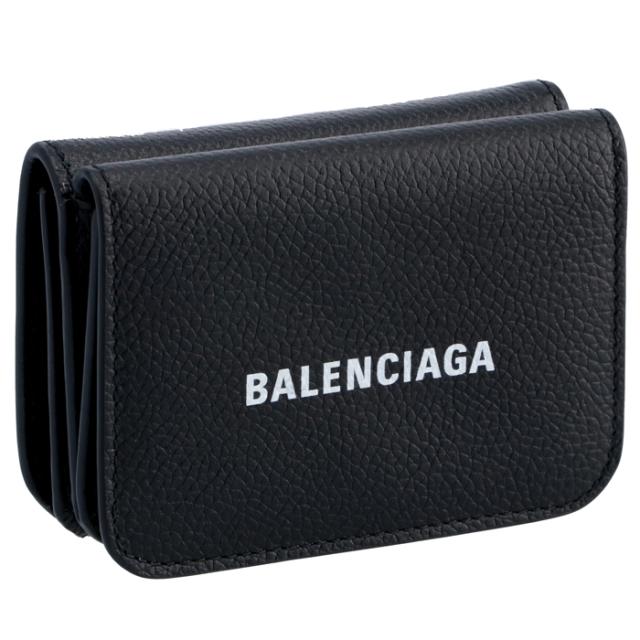 バレンシアガ BALENCIAGA 財布 三つ折り ミニ財布 ロゴ ミニウォレット 三つ折り財布 593813 1IZIM 1090