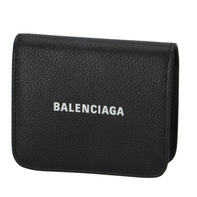 バレンシアガ BALENCIAGA 2020年春夏新作 財布 二つ折り ロゴ フラップウォレット 二つ折り財布 594216 1IZ4M 1090