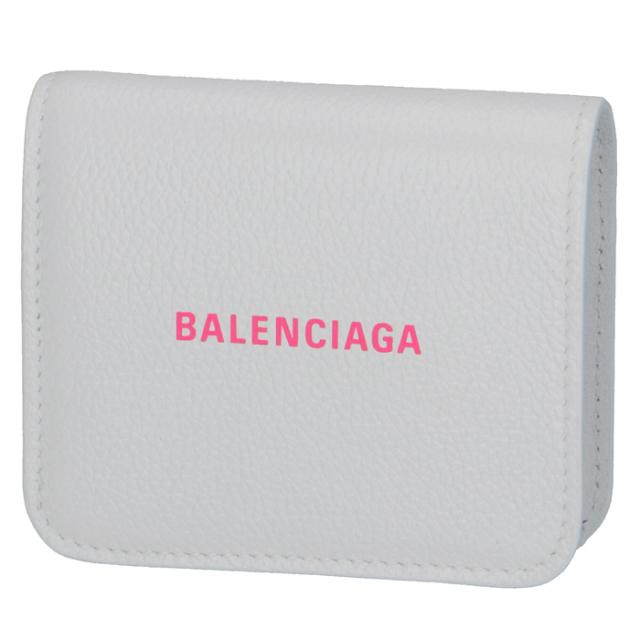 バレンシアガ BALENCIAGA 2020年春夏新作 財布 二つ折り ミニ財布 ロゴ フラップウォレット 二つ折り財布 594216 1IZF3 9066