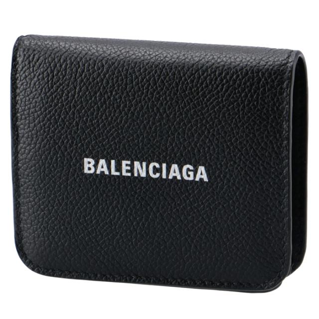 バレンシアガ BALENCIAGA 2020年秋冬新作 財布 二つ折り ミニ財布 ロゴ キャッシュ フラップウォレット 二つ折り財布 594216 1IZIM 1090