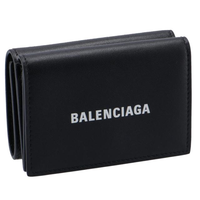 バレンシアガ BALENCIAGA 財布 三つ折り ミニ財布 ロゴ ミニウォレット 三つ折り財布 594312 1I353 1090