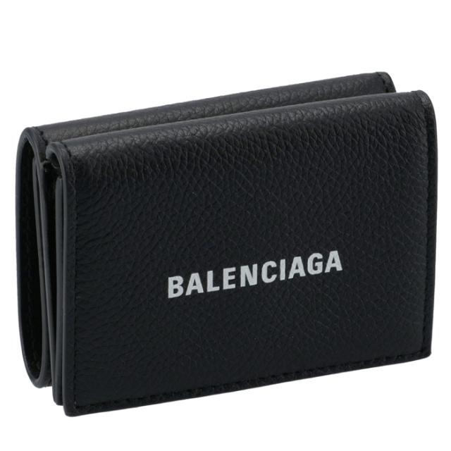 バレンシアガ BALENCIAGA 財布 三つ折り ミニ財布 ロゴ ミニウォレット メンズ 三つ折り財布 594312 1IZ43 1090