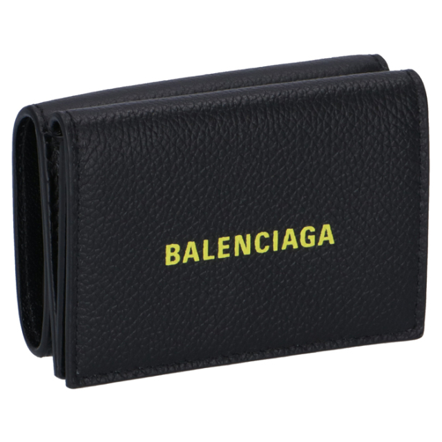 バレンシアガ BALENCIAGA 2020年春夏新作 財布 三つ折り ミニ財布 ロゴ ミニウォレット メンズ 三つ折り財布 594312 1IZF3 1072