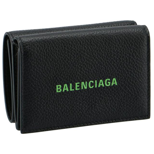 バレンシアガ BALENCIAGA 2021年春夏新作 財布 三つ折り ミニ財布 CASH MINI ロゴ ミニウォレット 三つ折り財布 594312 1IZI3 1063