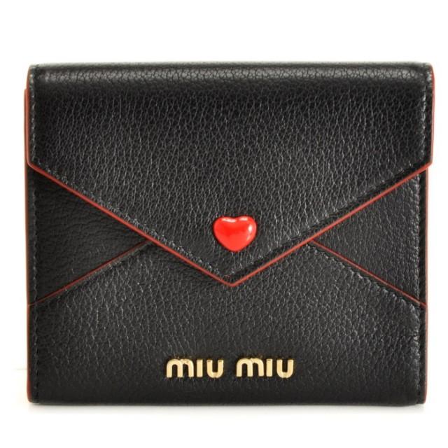 ミュウミュウ MIU MIU 2018年春夏新作 ミニ財布 マドラス 三つ折り財布 5MH014 2BC3 002