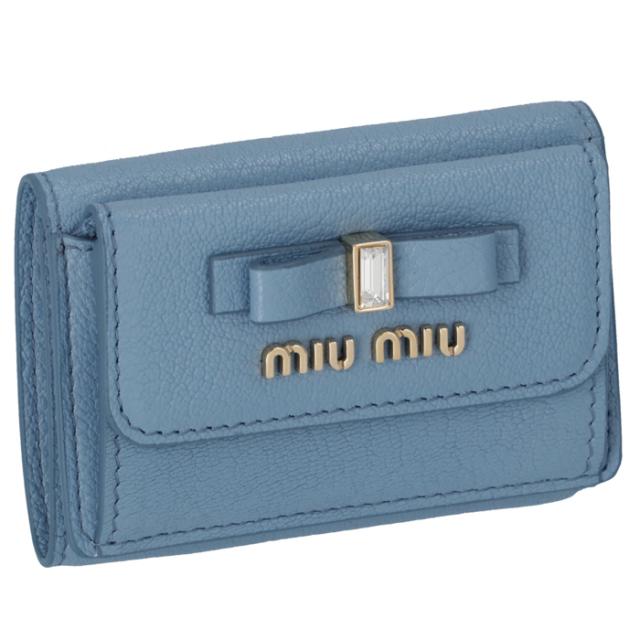 ミュウミュウ MIU MIU 2020年春夏新作 財布 三つ折り ミニ財布 マドラス 三つ折り財布 5MH021 2D7A 637