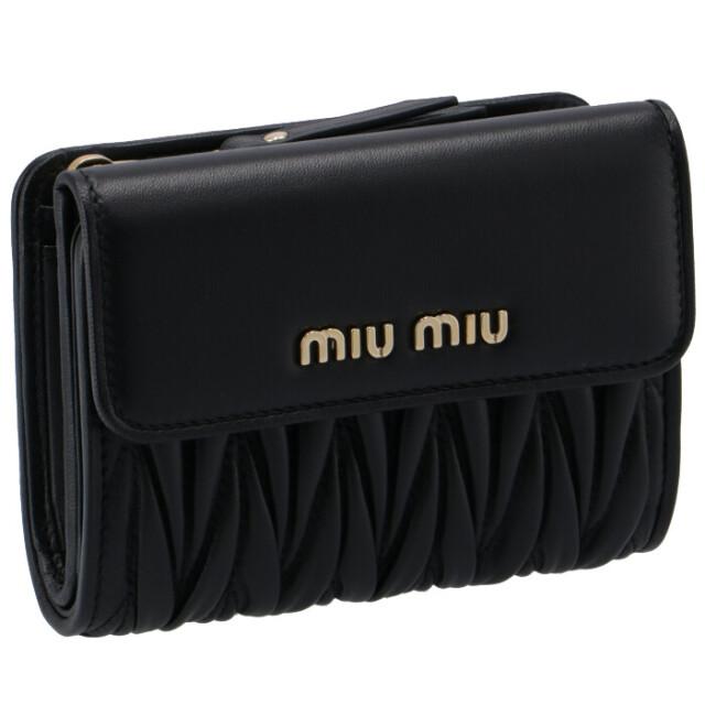 ミュウミュウ MIU MIU 2020年秋冬新作 財布 二つ折り マテラッセ 折りたたみ財布 二つ折り財布 5ML002 N88 002