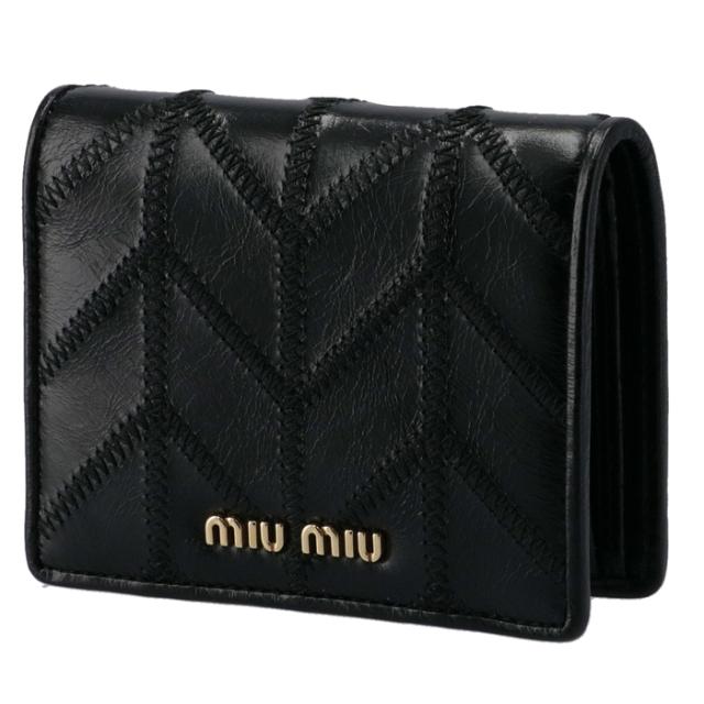 ミュウミュウ MIU MIU 2020年秋冬新作 財布 二つ折り ミニ財布 二つ折り財布 5MV204 2DVU 002