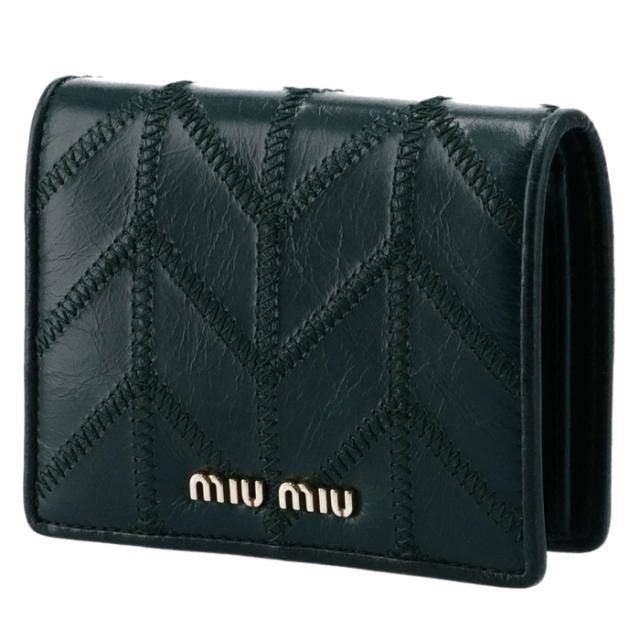 ミュウミュウ MIU MIU 2020年秋冬新作 財布 二つ折り ミニ財布 二つ折り財布 5MV204 2DVU 086