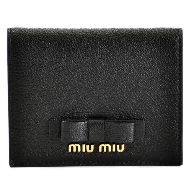 ミュウミュウ MIU MIU 2018年春夏新作 マドラス リボン ミニ財布 二つ折り財布 5MV204 3R7 002