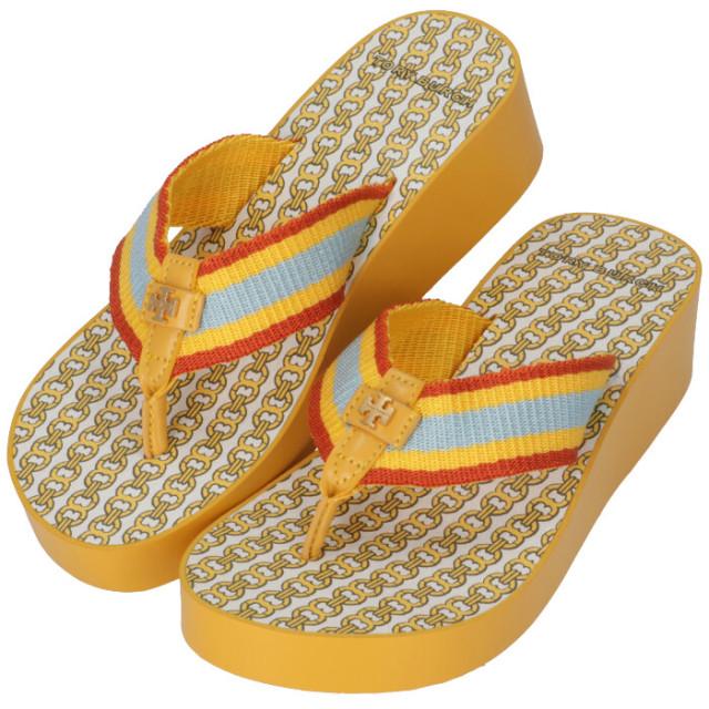 トリーバーチ TORY BURCH ビーチサンダル ウェッジソール GEMINI LINK WEDGE FLIP FLOP シューズ 靴 61714 0061 722【06-SS】