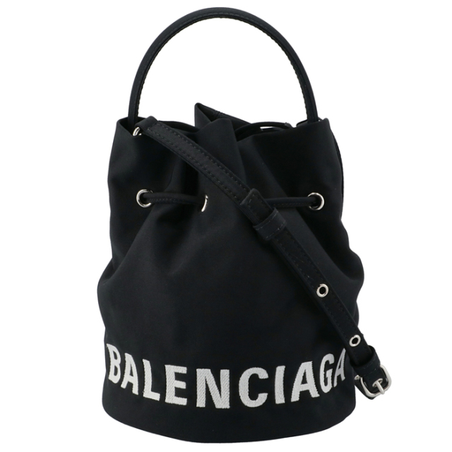 バレンシアガ BALENCIAGA 2020年秋冬新作 ショルダー WHEEL XS ドローストリング バケットバッグ 2WAYハンド 619458 H852N 1000