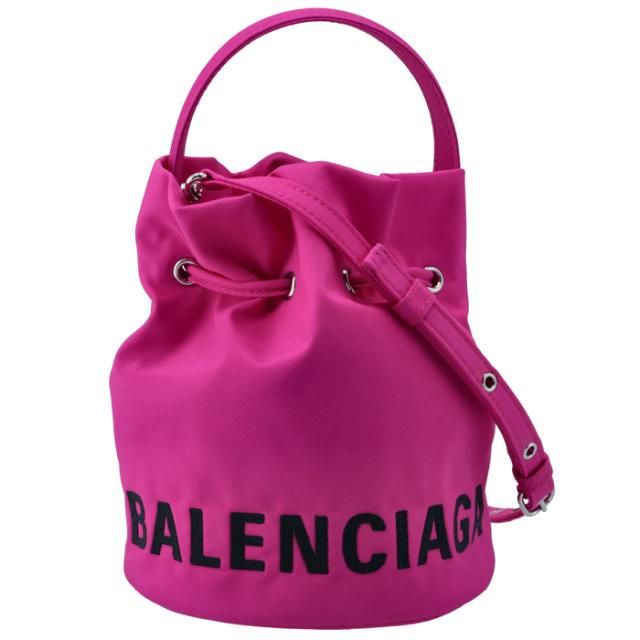 バレンシアガ BALENCIAGA 2020年秋冬新作 ショルダーバッグ WHEEL XS ドローストリング バケット 2WAYハンドバッグ 619458 H852N 5560