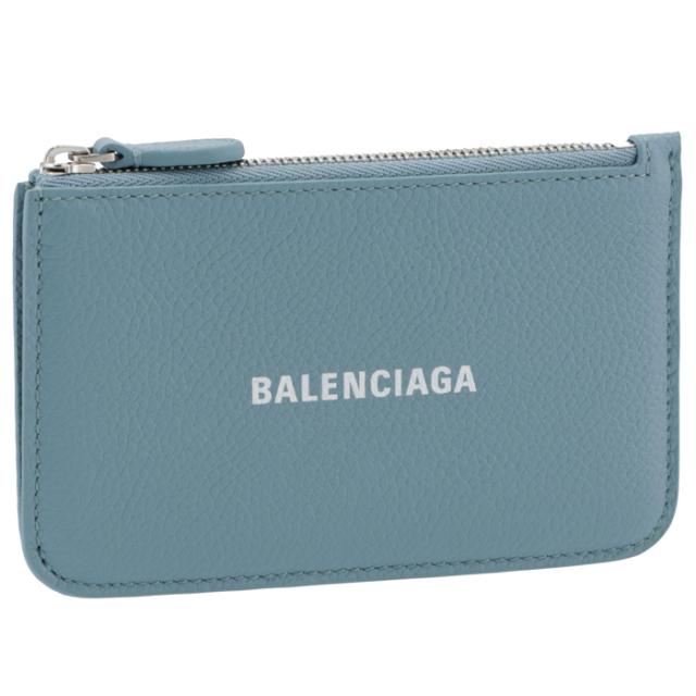 バレンシアガ BALENCIAGA 2021年秋冬新作 カードホルダー&コインケース ミニ財布 フラグメントケース ブルー系 637130 1IZI3 4791