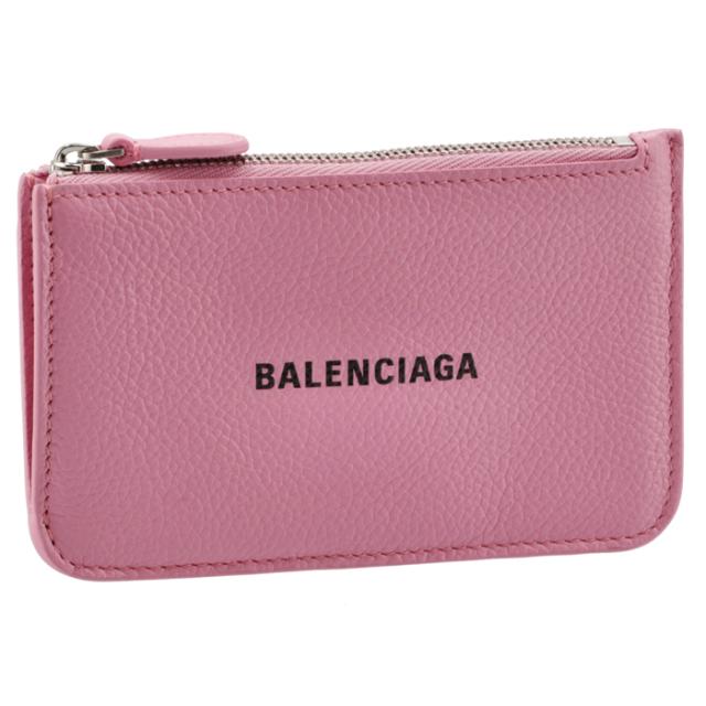 バレンシアガ BALENCIAGA 2021年秋冬新作 カードホルダー&コインケース ミニ財布 フラグメントケース ピンク系 637130 1IZI3 5860