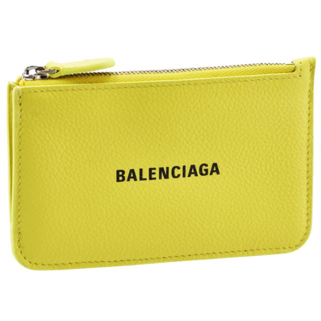 バレンシアガ BALENCIAGA 2021年秋冬新作 カードホルダー&コインケース ミニ財布 フラグメントケース イエロー系 637130 1IZI3 7460