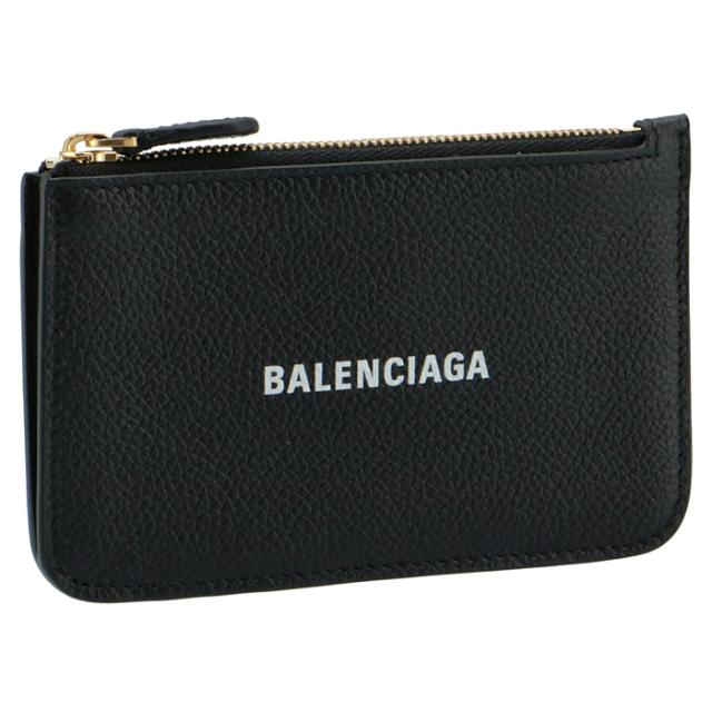 バレンシアガ BALENCIAGA 2021年秋冬新作 カードホルダー&コインケース ミニ財布 フラグメントケース ブラック 637130 1IZIM 1090