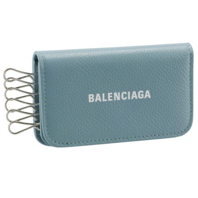 バレンシアガ BALENCIAGA 2021年秋冬新作 6連 キーケース CASH ブルー系 639820 1IZI3 4791