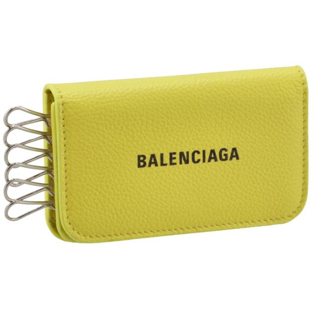 バレンシアガ BALENCIAGA 2021年秋冬新作 キーケース 6連 イエロー 639820 1IZI3 7460
