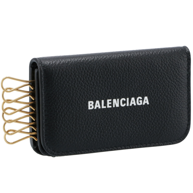 バレンシアガ BALENCIAGA 2021年秋冬新作 キーケース 6連 ブラック 639820 1IZIM 1090