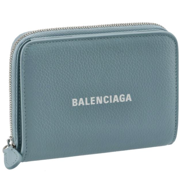 バレンシアガ BALENCIAGA 2021年秋冬新作 財布 二つ折り ロゴ バイフォールド ウォレット ブルー系 650871 1IZI3 4791