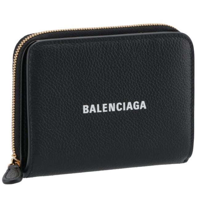 バレンシアガ BALENCIAGA 2021年秋冬新作 財布 二つ折り ロゴ バイフォールド ウォレット ブラック 650871 1IZIM 1090