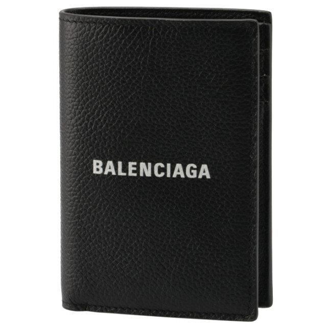 バレンシアガ BALENCIAGA 2021年秋冬新作 財布 二つ折り CASH バーティカル ウォレット ミニ財布 ブラック 655683 1IZI3 1090