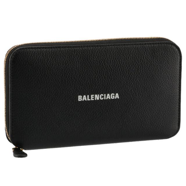 バレンシアガ BALENCIAGA 2021年秋冬新作 長財布 CASH ラウンドジップ ウォレット ブラック 655741 1IZIM 1090