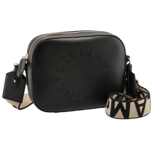 ステラマッカートニー STELLA MCCARTNEY 2021年秋冬新作 ショルダーバッグ ロゴ ミニ カメラバッグ ブラック系 700266 W8542 1000