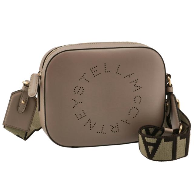 ステラマッカートニー STELLA MCCARTNEY 2021年秋冬新作 ショルダーバッグ ロゴ ミニ カメラバッグ ベージュブラウン系 700266 W8542 2800