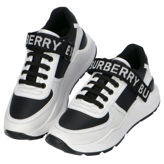 バーバリー BURBERRY 2020年春夏新作 ロゴディテール レザー&ナイロン スニーカー  シューズ 靴 スニーカー 8011531