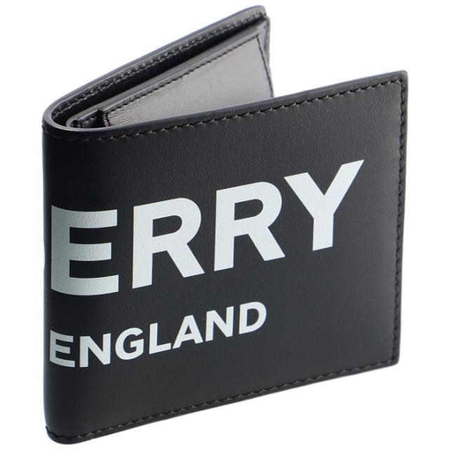 バーバリー BURBERRY 2019年秋冬新作 メンズ 財布 二つ折り ロゴプリント レザー ウォレット メンズ 二つ折り財布 8013919