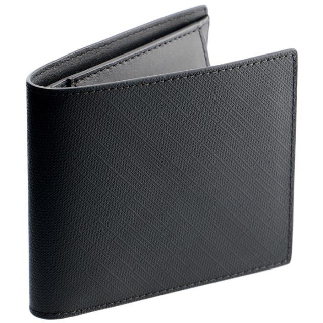 バーバリー BURBERRY メンズ 財布 二つ折り 小銭入れ付き ロンドンチェック インターナショナル バイフォールド ダークチャコール 8014484