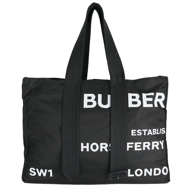 バーバリー BURBERRY 2019年秋冬新作 ベルトディテール ホースフェリープリント ナイロントートバッグ メンズ トートバッグ 8014547