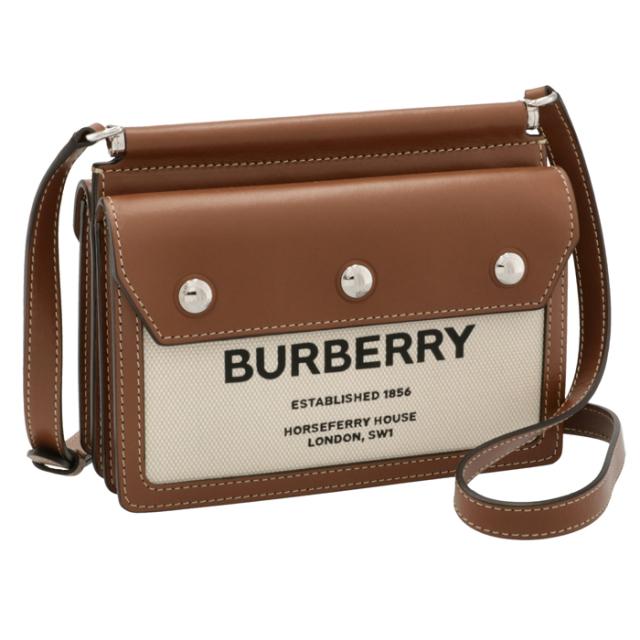 バーバリー BURBERRY 2021年秋冬新作 ショルダーバッグ ミニ ホースフェリープリント タイトルバッグ ブラウン系 8014611