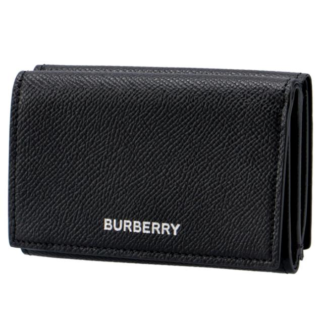 バーバリー BURBERRY 2020年秋冬新作 グレイニーレザー フォールディングウォレット メンズ 三つ折り財布 8017455