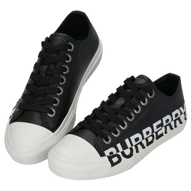 バーバリー BURBERRY 2020年春夏新作 ロゴプリント ツートン レザースニーカー  シューズ 靴 スニーカー 8019326