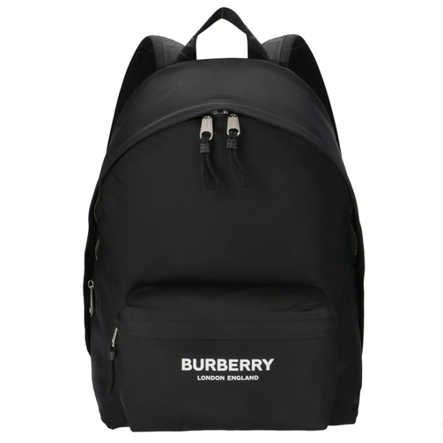 バーバリー BURBERRY バックパック ロゴプリント エコナイロン リュックサック ブラック 8021084