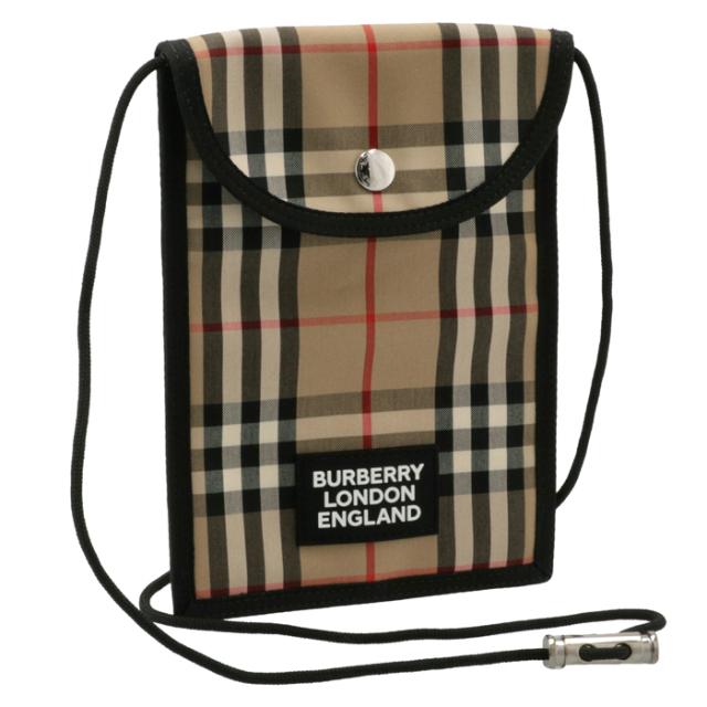 バーバリー BURBERRY 2021年秋冬新作 ショルダーバッグ メンズ ヴィンテージチェック キャベンディッシュ ネックポーチ アーカイブベージュ 8026664