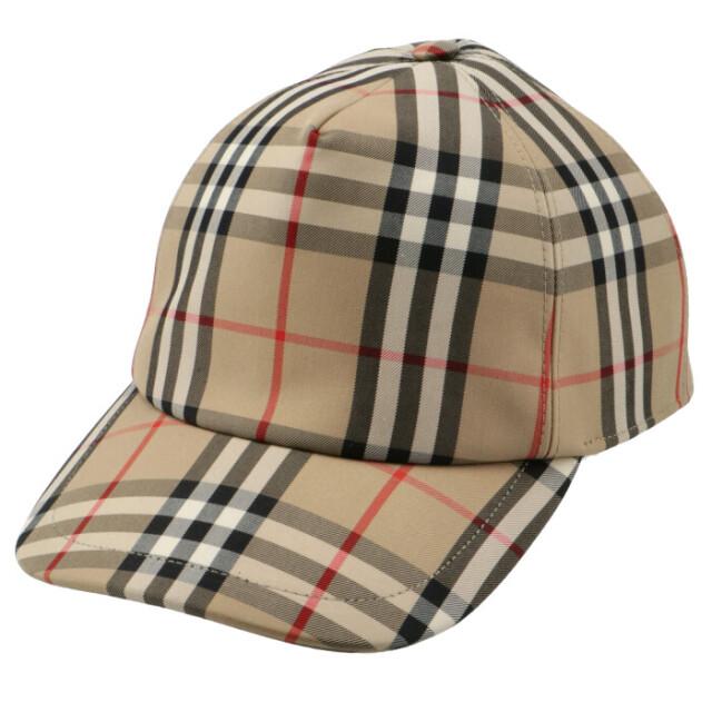 バーバリー BURBERRY ベースボールキャップ ヴィンテージチェック 帽子 アンティークイエロー 8026929