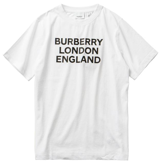 バーバリー BURBERRY 2021年秋冬新作 【大人もOK】コットンTシャツ キッズ 14Y ロゴプリント ホワイト 8028811