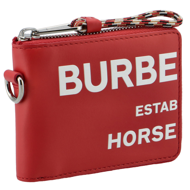 バーバリー BURBERRY 2021年春夏新作 財布 メンズ 二つ折り ホースフェリープリント メンズ 二つ折り財布 8037589